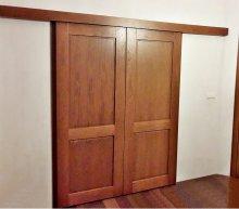 drzwi przesuwne drewniane 5a