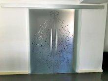 drzwi przesuwne dwuskrzydłowe 10a
